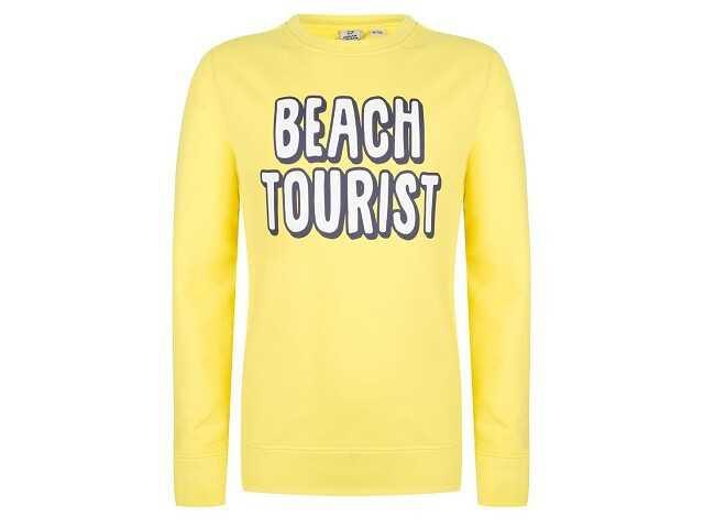 Afbeelding van Indian Blue Sweater crewneck beach geel