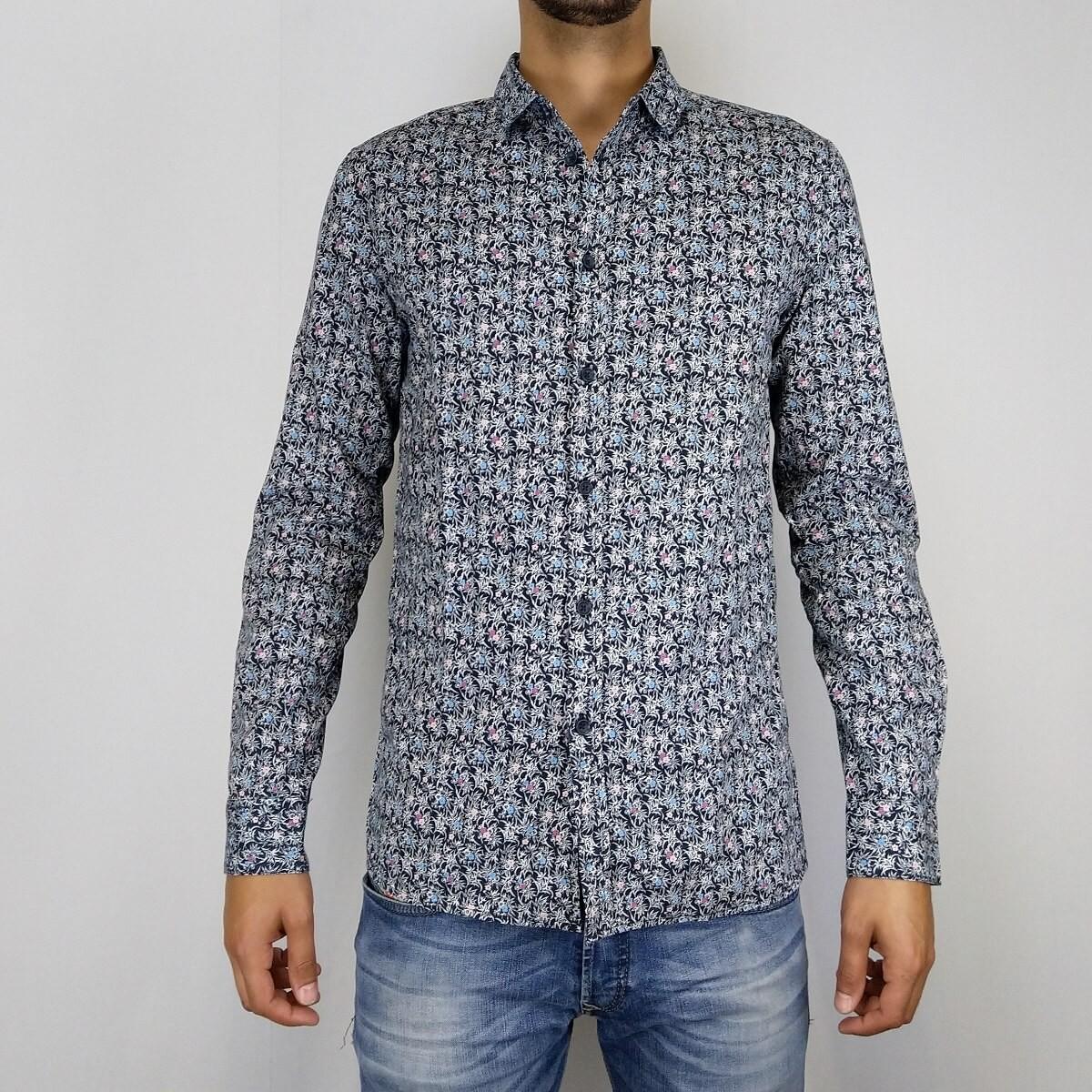 Afbeelding van Anerkjendt Django shirt blauw