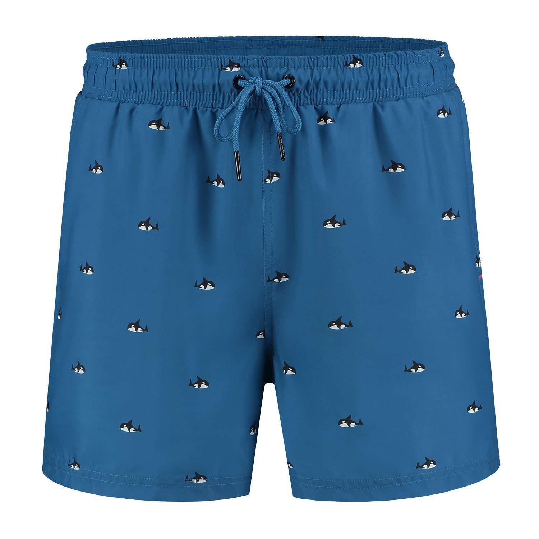 Afbeelding van A-dam Swim short ron blauw