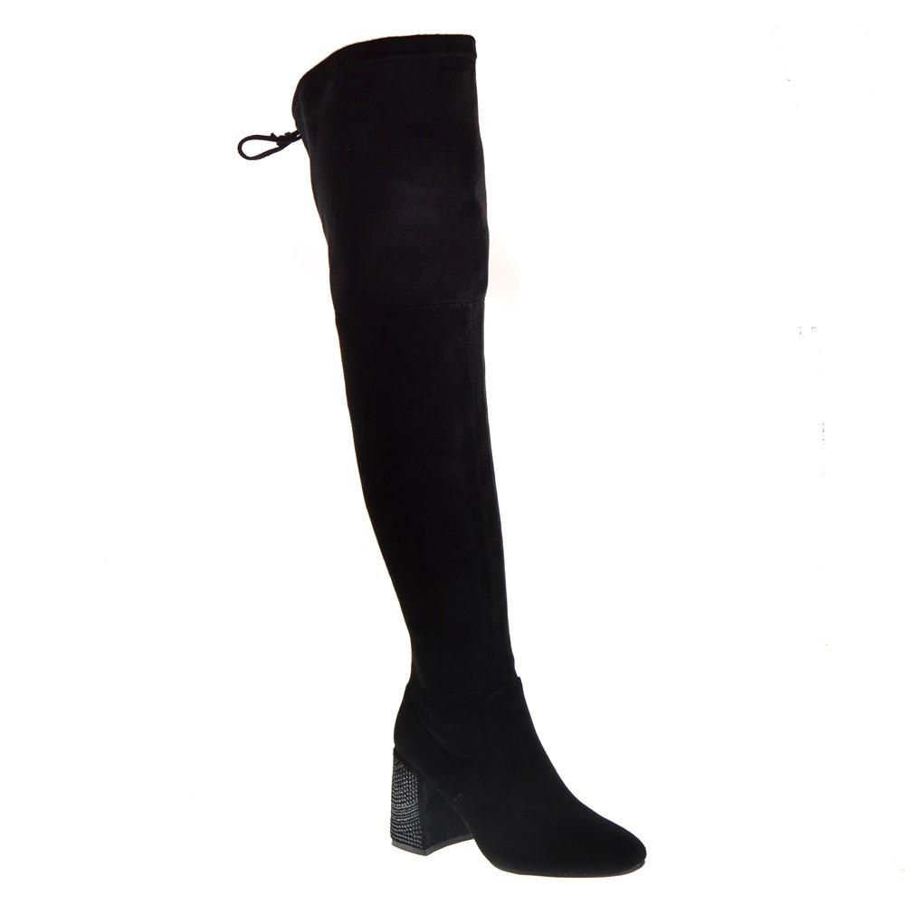 Afbeelding van Alma en Pena Overknee laarzen zwart