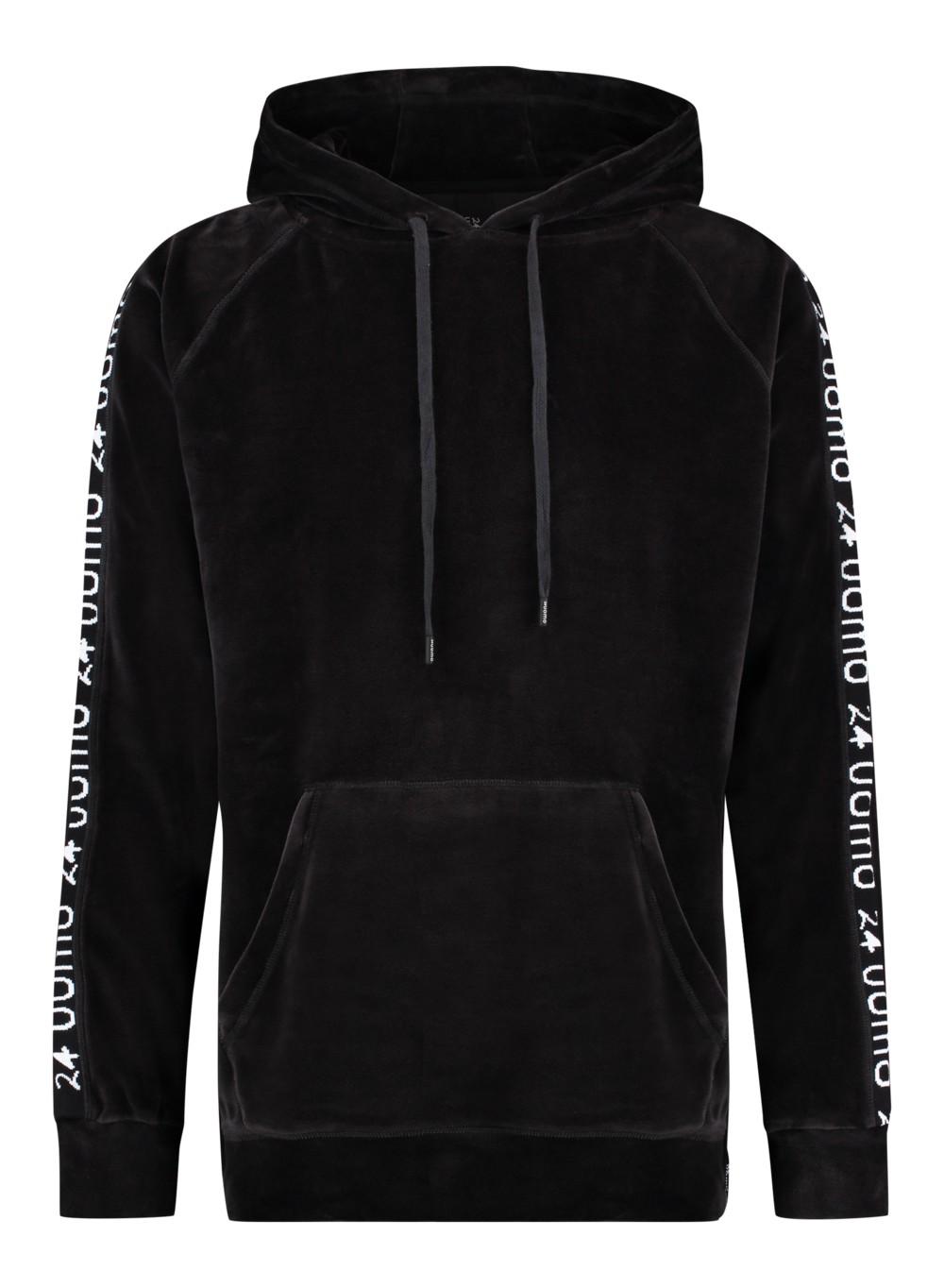 Afbeelding van 24UOMO 24 uomo my13 hoodie – zwart