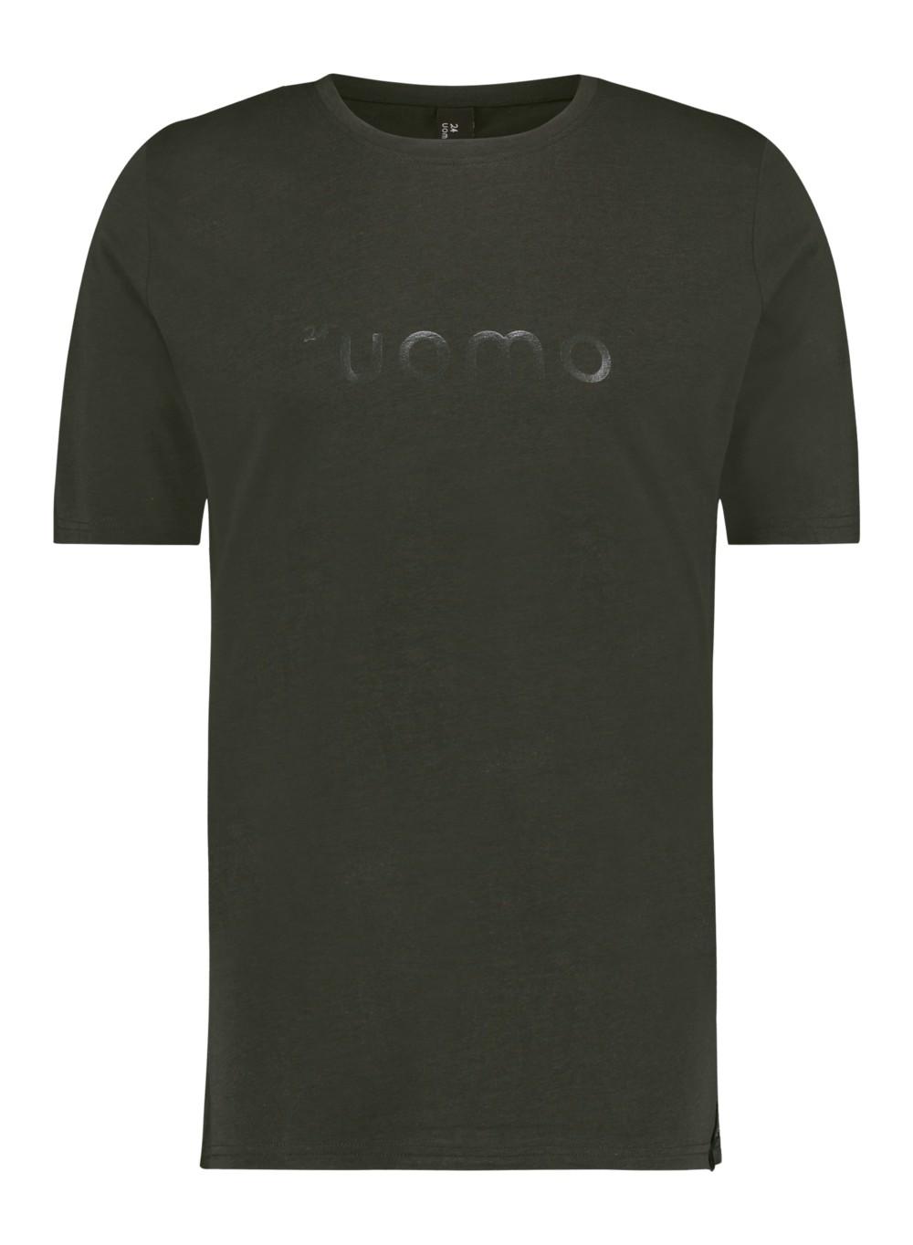 Afbeelding van 24UOMO 24 uomo my6 t-shirt – donker groen army
