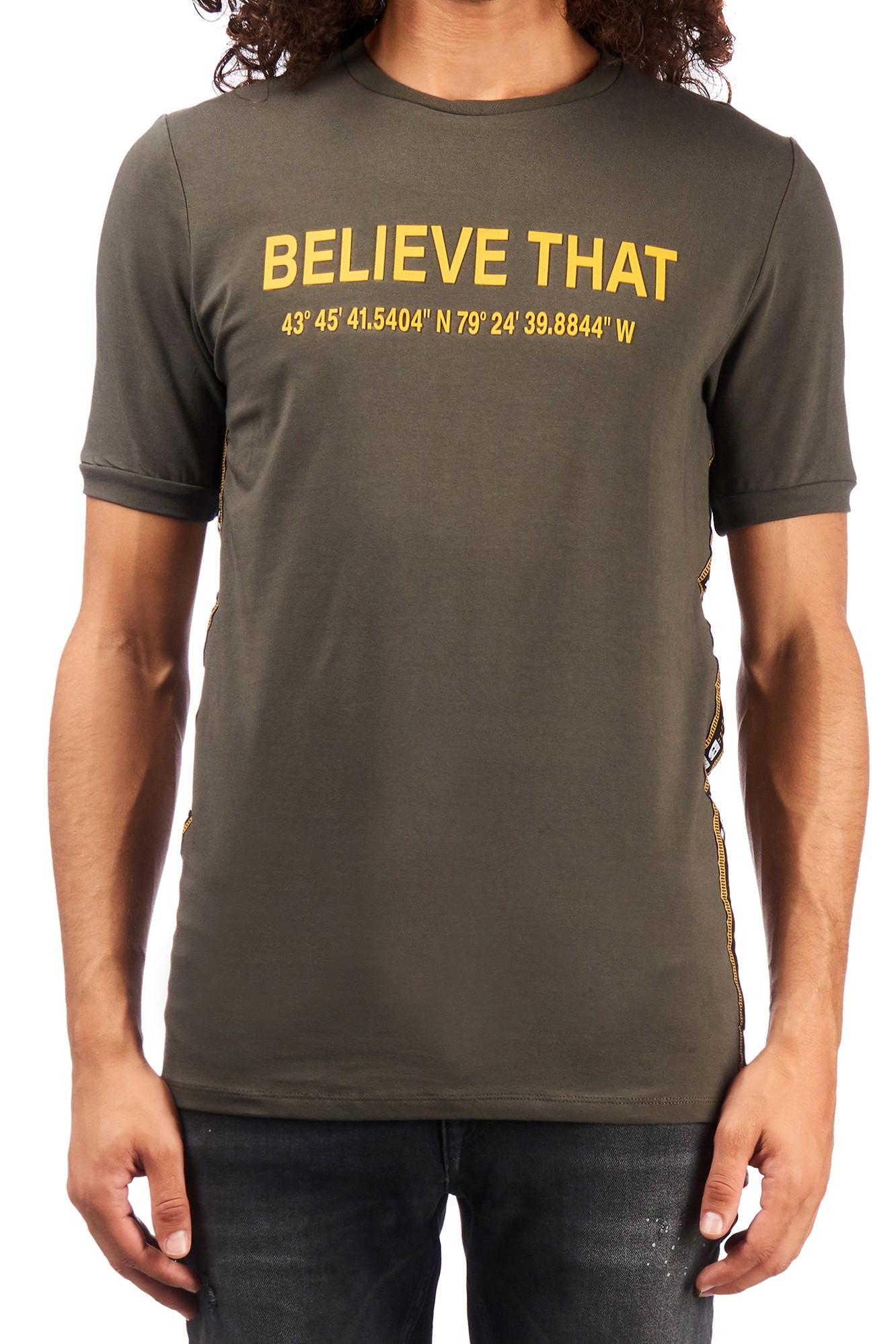 Afbeelding van Believe That Control t-shirt – groen army