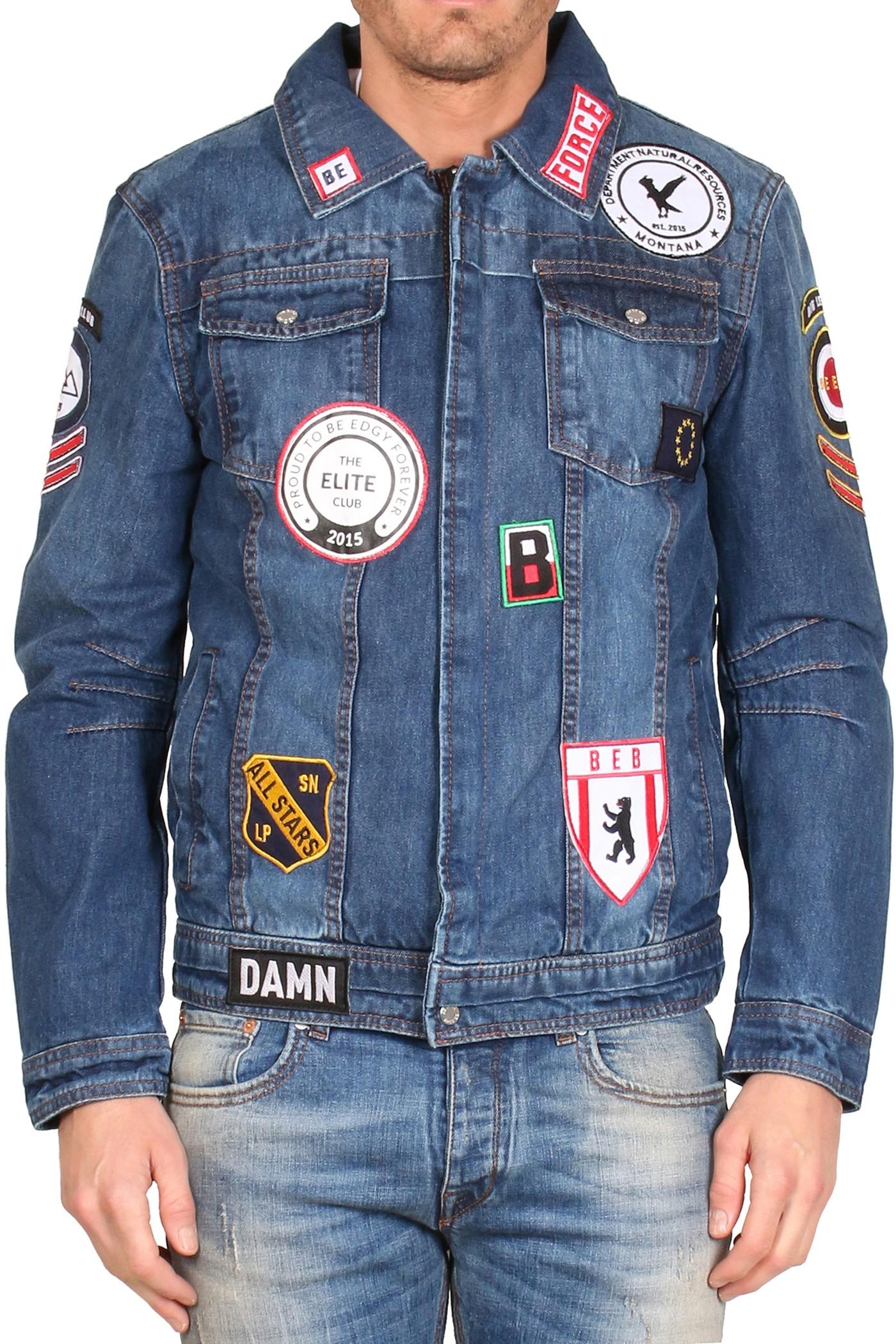 Afbeelding van Be Edgy Berave patch jacket - denim