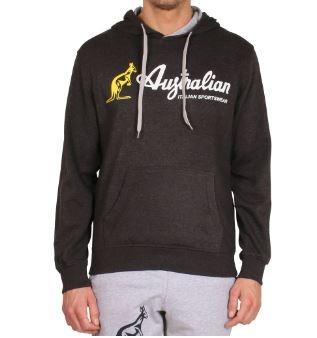 Afbeelding van Australian Felpa capp hoodie donkergrijs antraciet