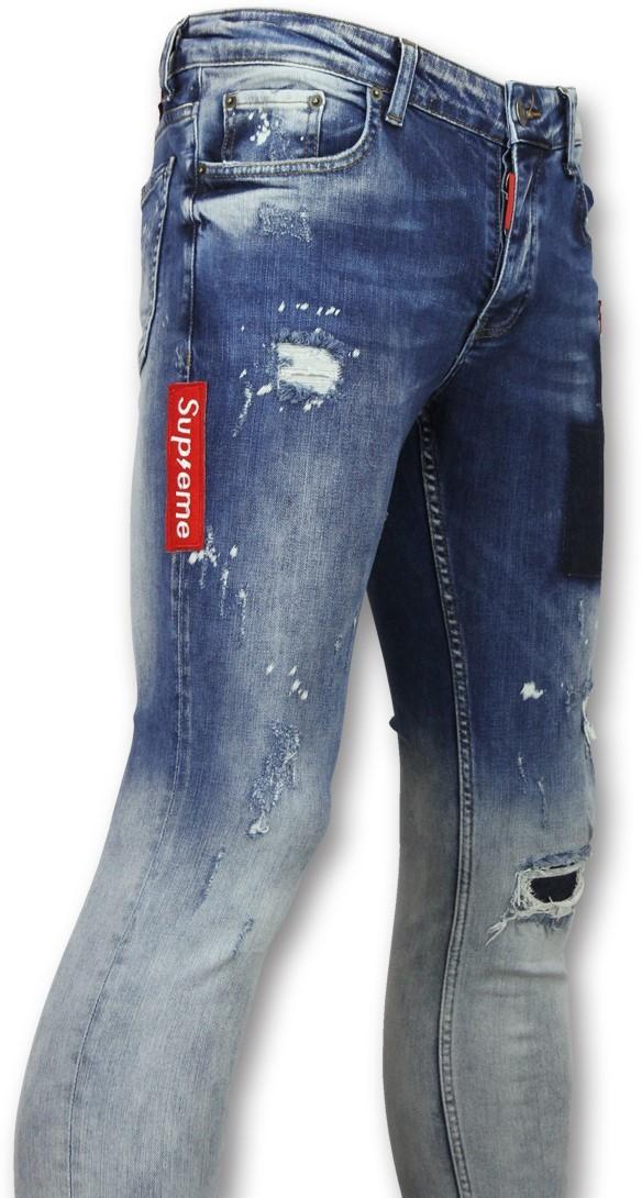 Afbeelding van Addict Jeans slim mannen blauw