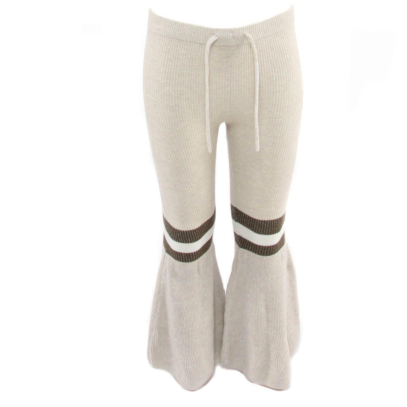 Afbeelding van Reinders Daisy flair pants lurex wit