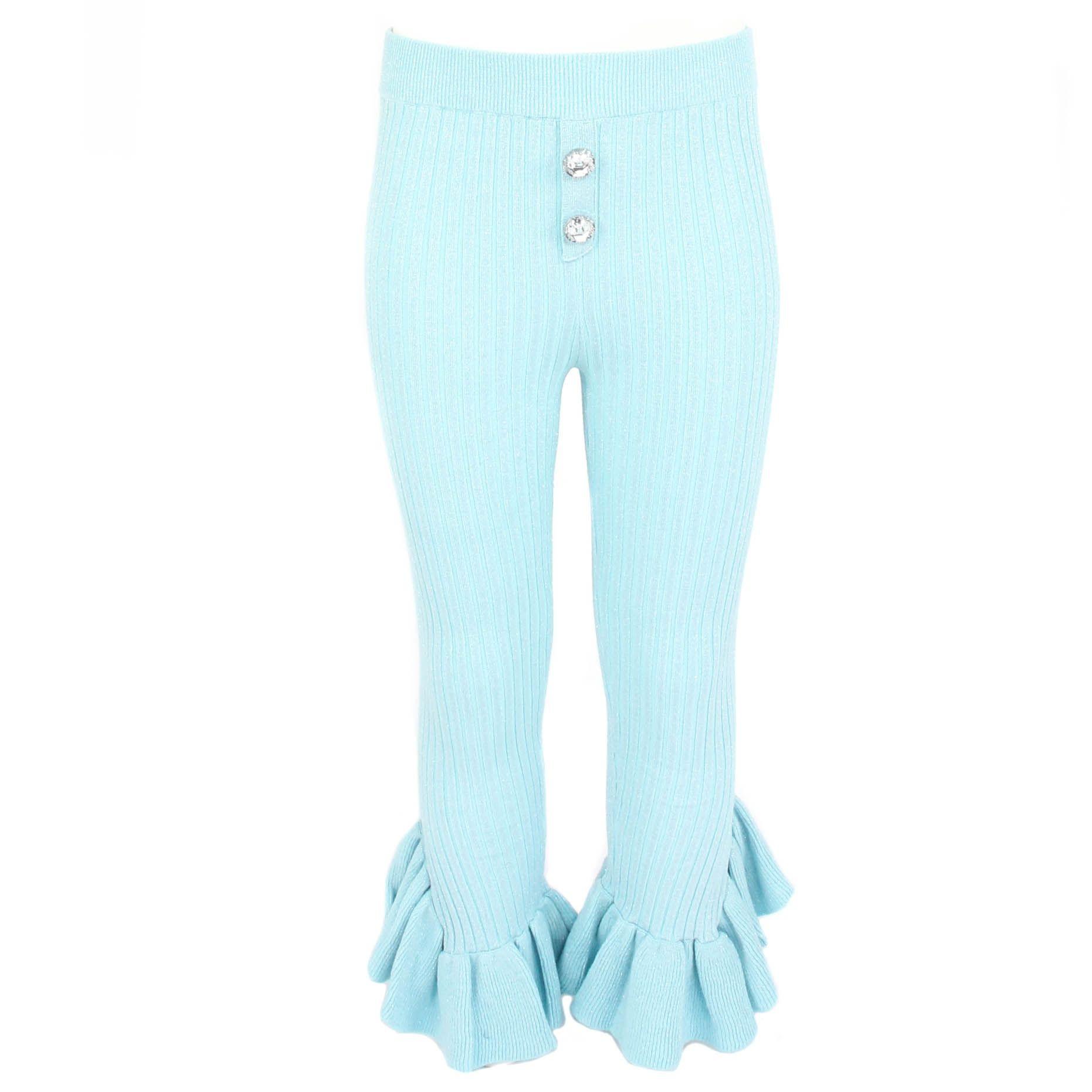 Afbeelding van Reinders Diamond pants lurex blauw