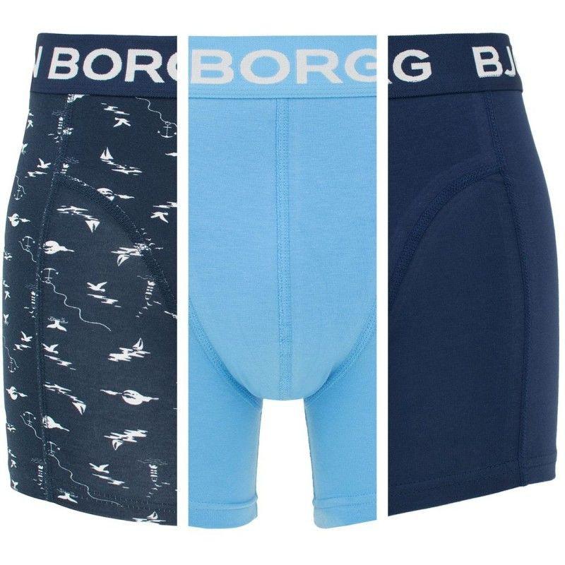 Afbeelding van Bjorn Borg 3-pack boxers nautica mono blauw
