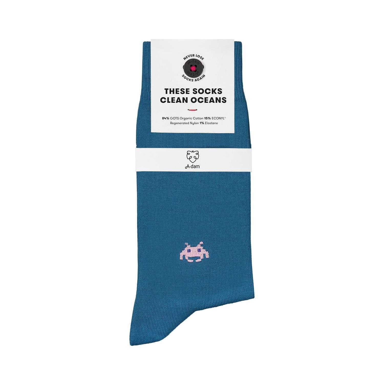 Afbeelding van A-dam Sock-male-julien-41 blauw