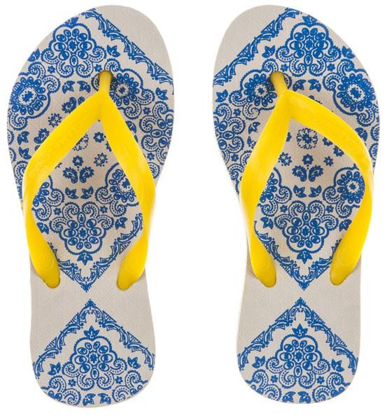 Afbeelding van Amazonas /gele kinderslippers enjoy bandana girl blauw