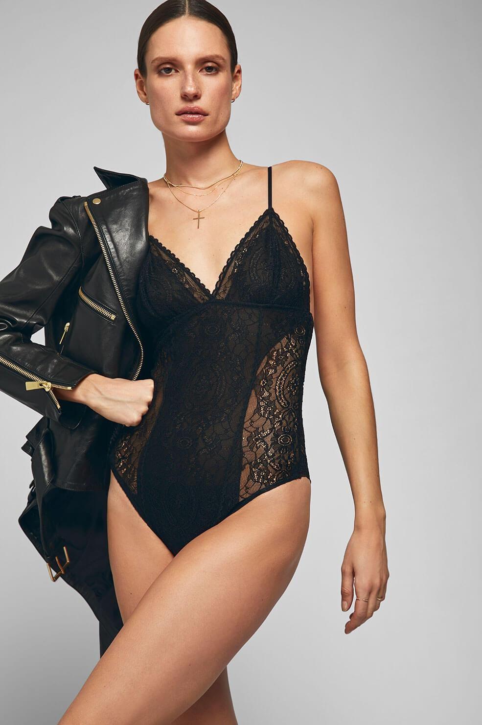 Afbeelding van Anine Bing Bodysuit kaia zwart
