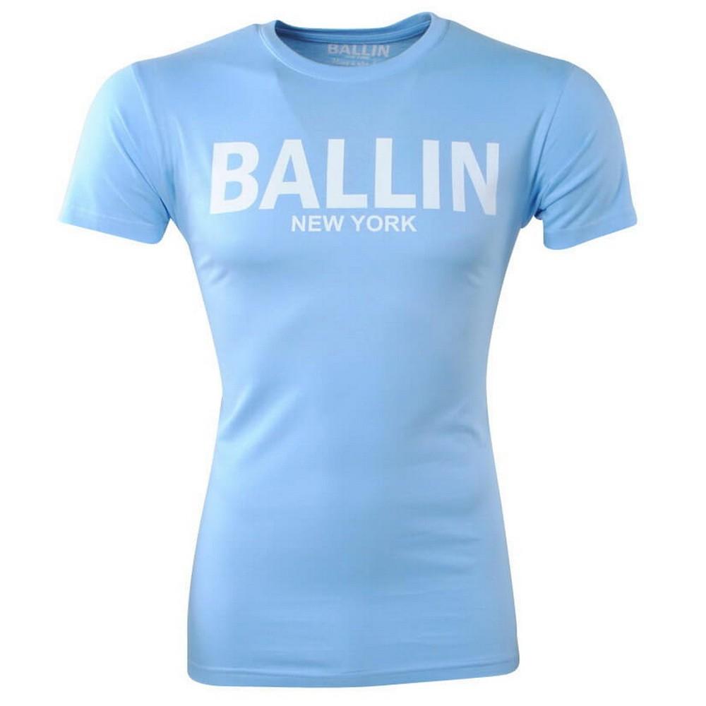 Afbeelding van Ballin New York Heren tshirt ronde hals slim fit licht blauw