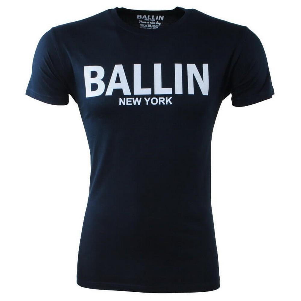 Afbeelding van Ballin New York Heren tshirt ronde hals slim fit blauw