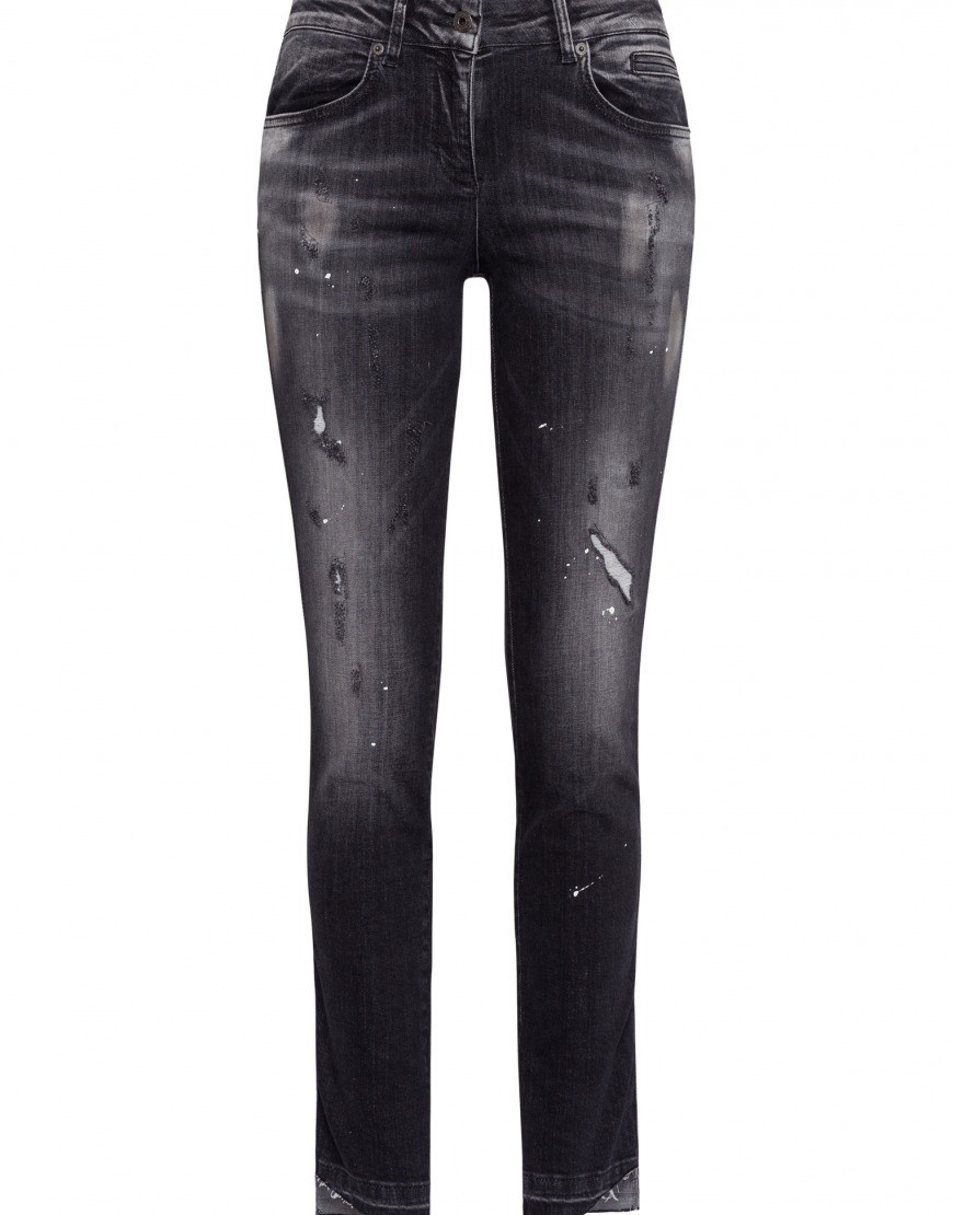 Afbeelding van Marc Aurel Jeans grey denim varied grijs