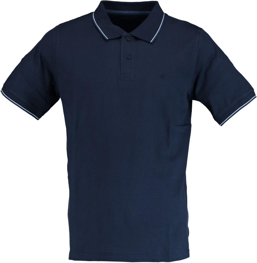 Afbeelding van Attention Knopf polo shirt uni 271000647/602 blauw