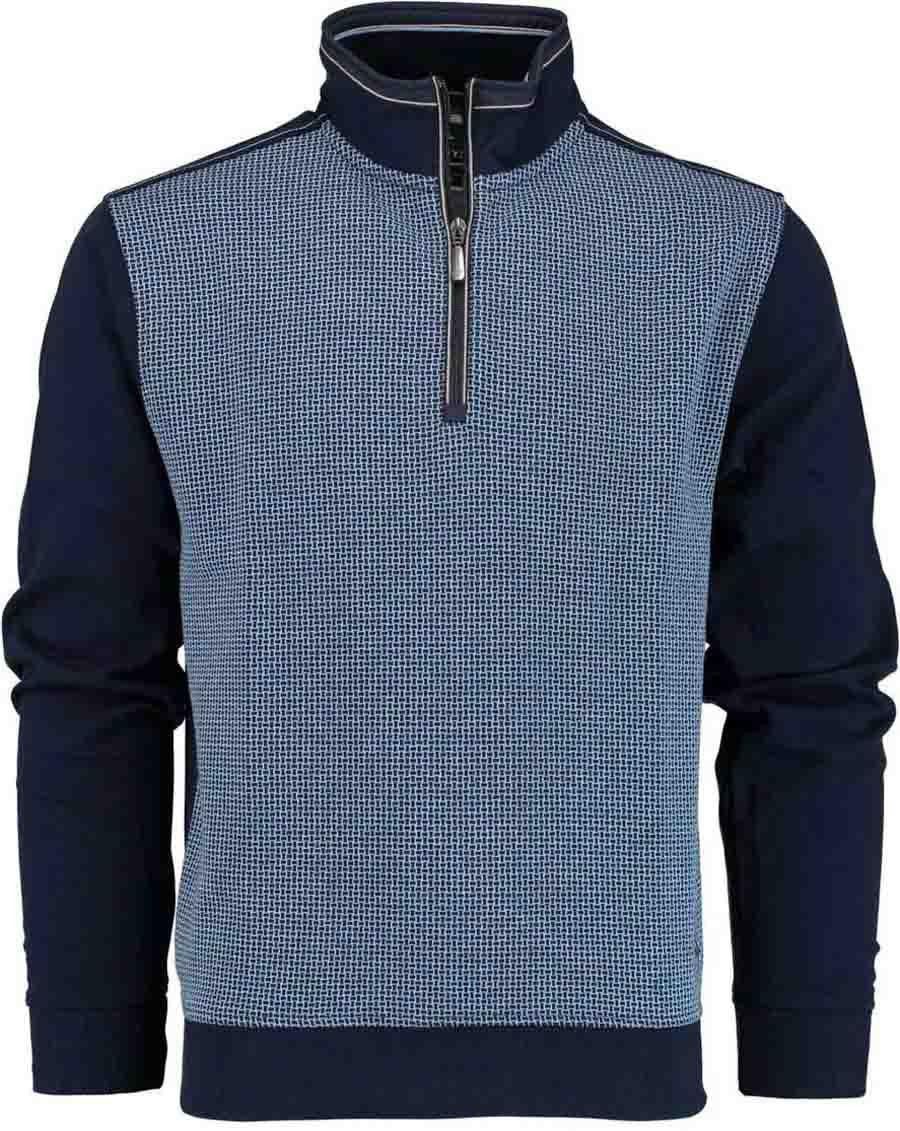 Afbeelding van Baileys Shirt style zip 813187/534 blauw