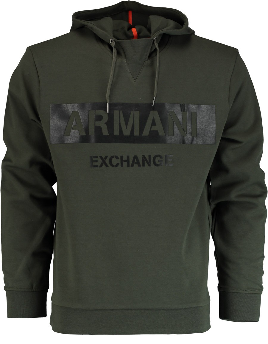 Afbeelding van Armani Exchange Groene trui met capuchon 6zzm71.zjq2z/1829 armani