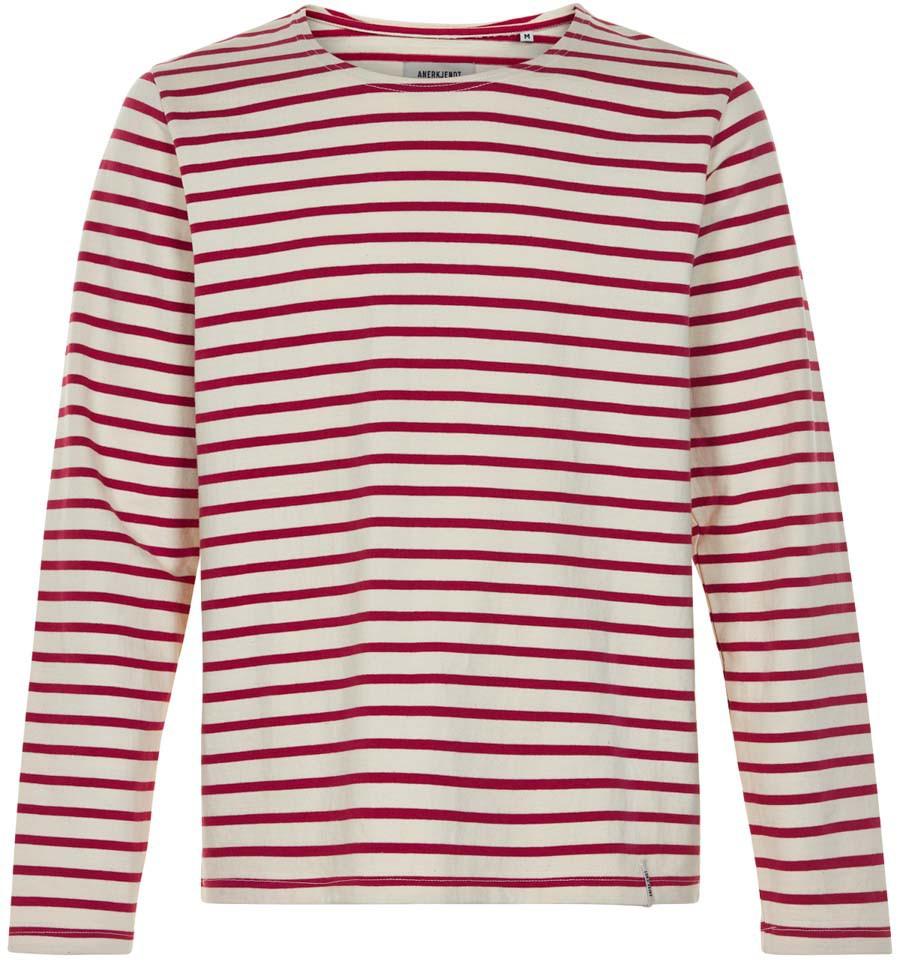 Afbeelding van Anerkjendt Gestreepte sweater 9219702/2008 trui rood