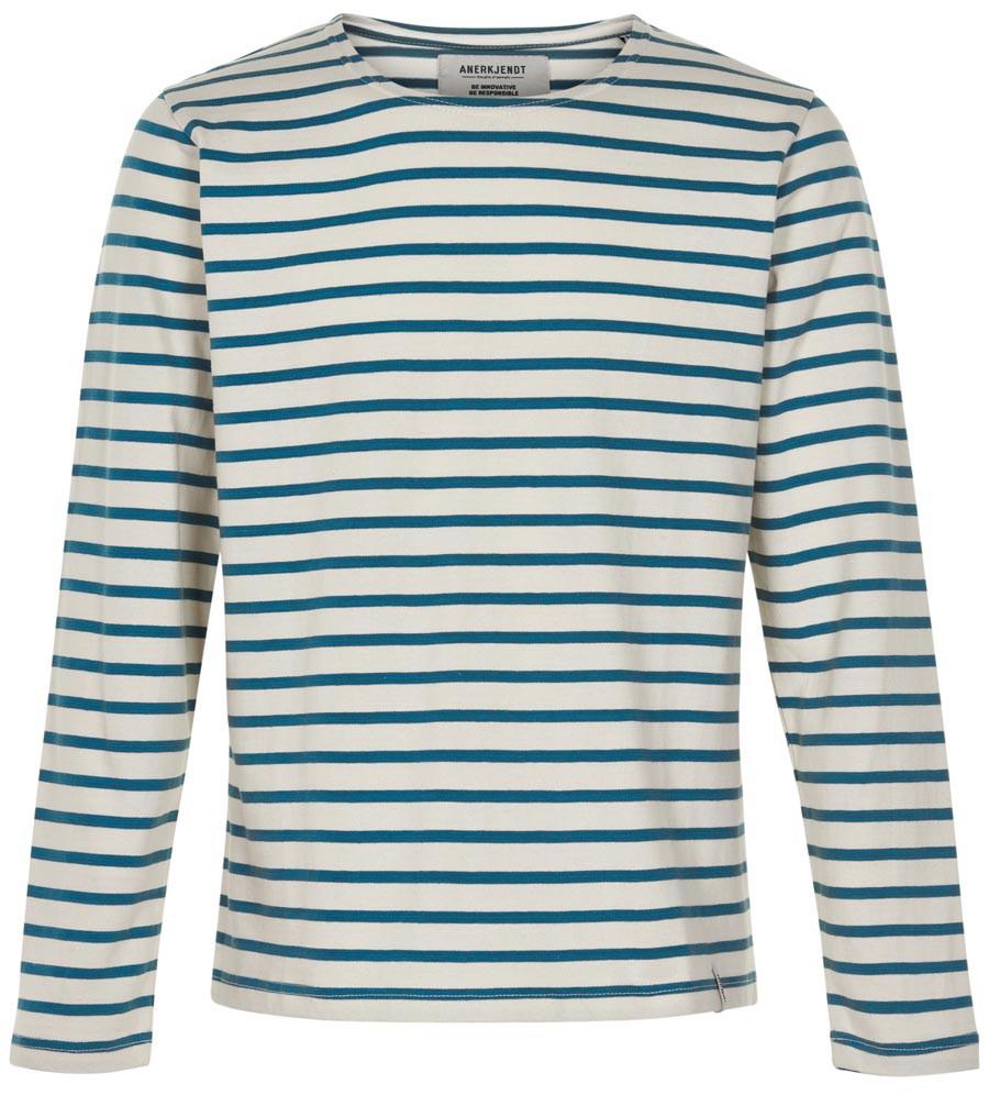 Afbeelding van Anerkjendt Gestreepte sweater 9219702/3035 trui blauw