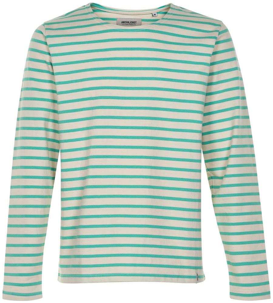 Afbeelding van Anerkjendt Gestreepte sweater 9219702/4028 trui groen