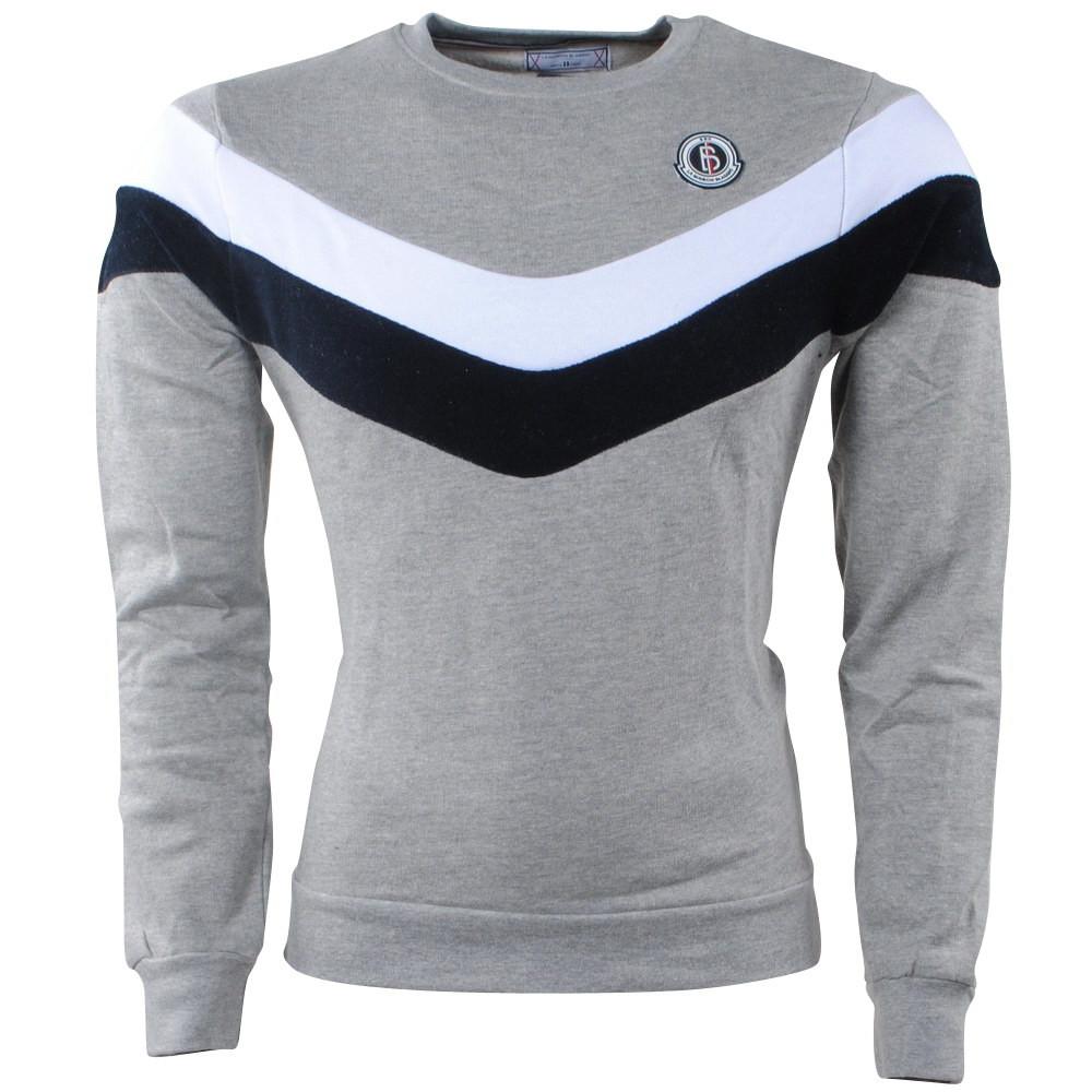 Afbeelding van Biaggio Jeans Heren trui ronde hals sweat grijs