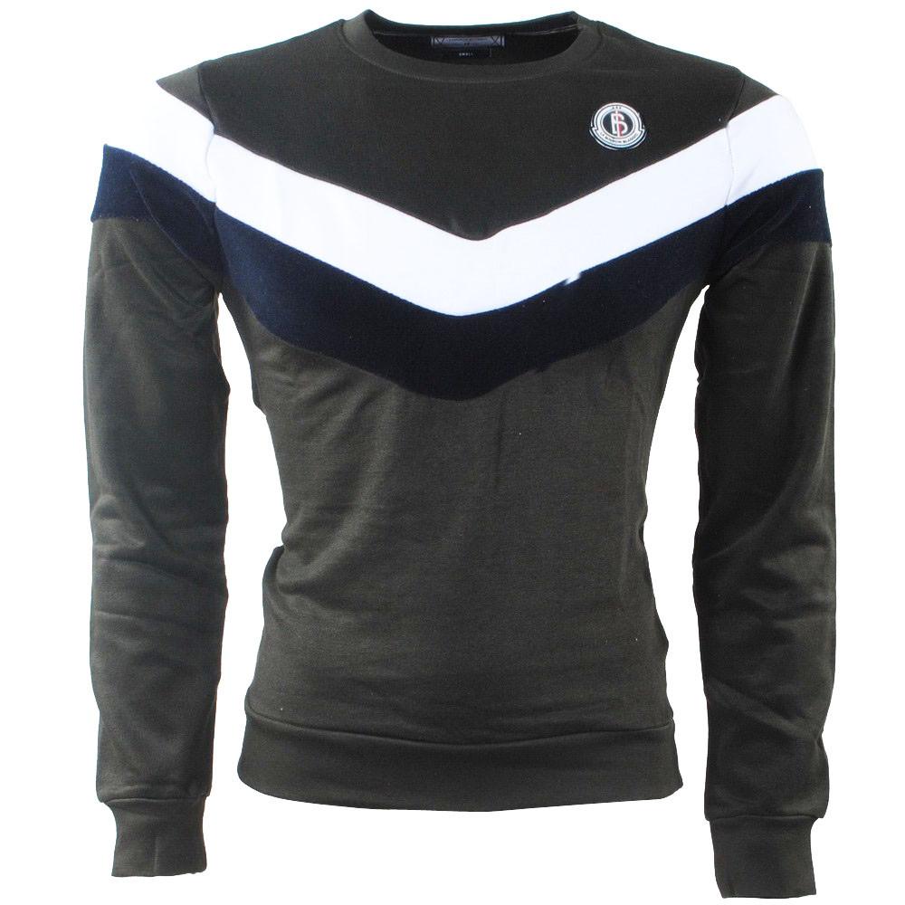 Afbeelding van Biaggio Jeans Heren trui ronde hals sweat kaki khaki