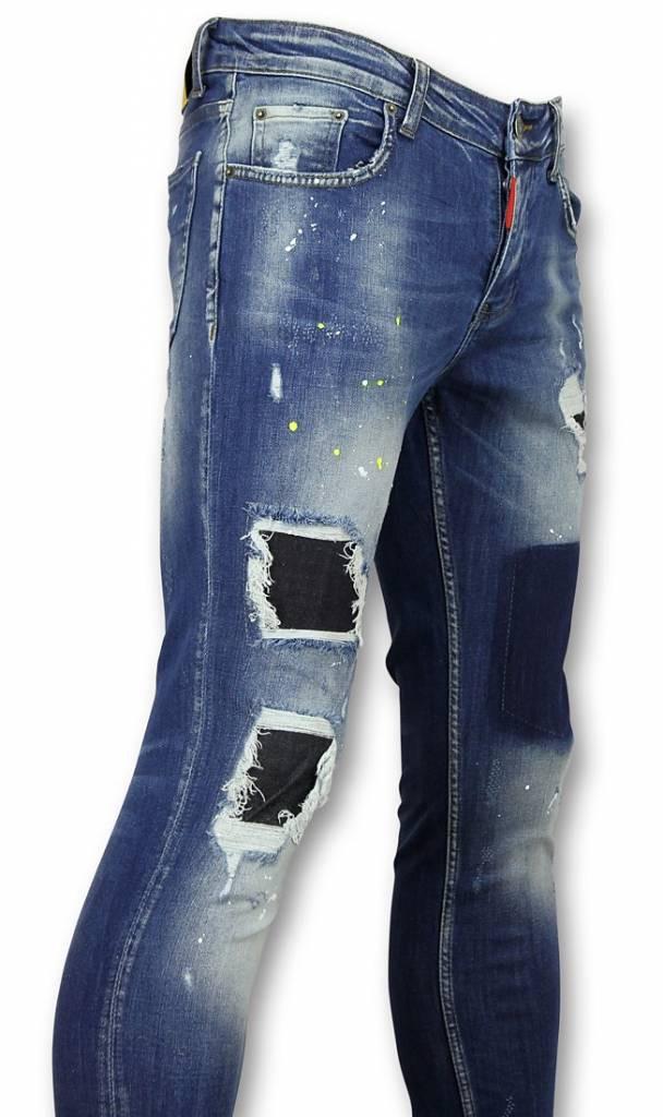 Afbeelding van Addict Spijkerbroek heren slim fit blauw