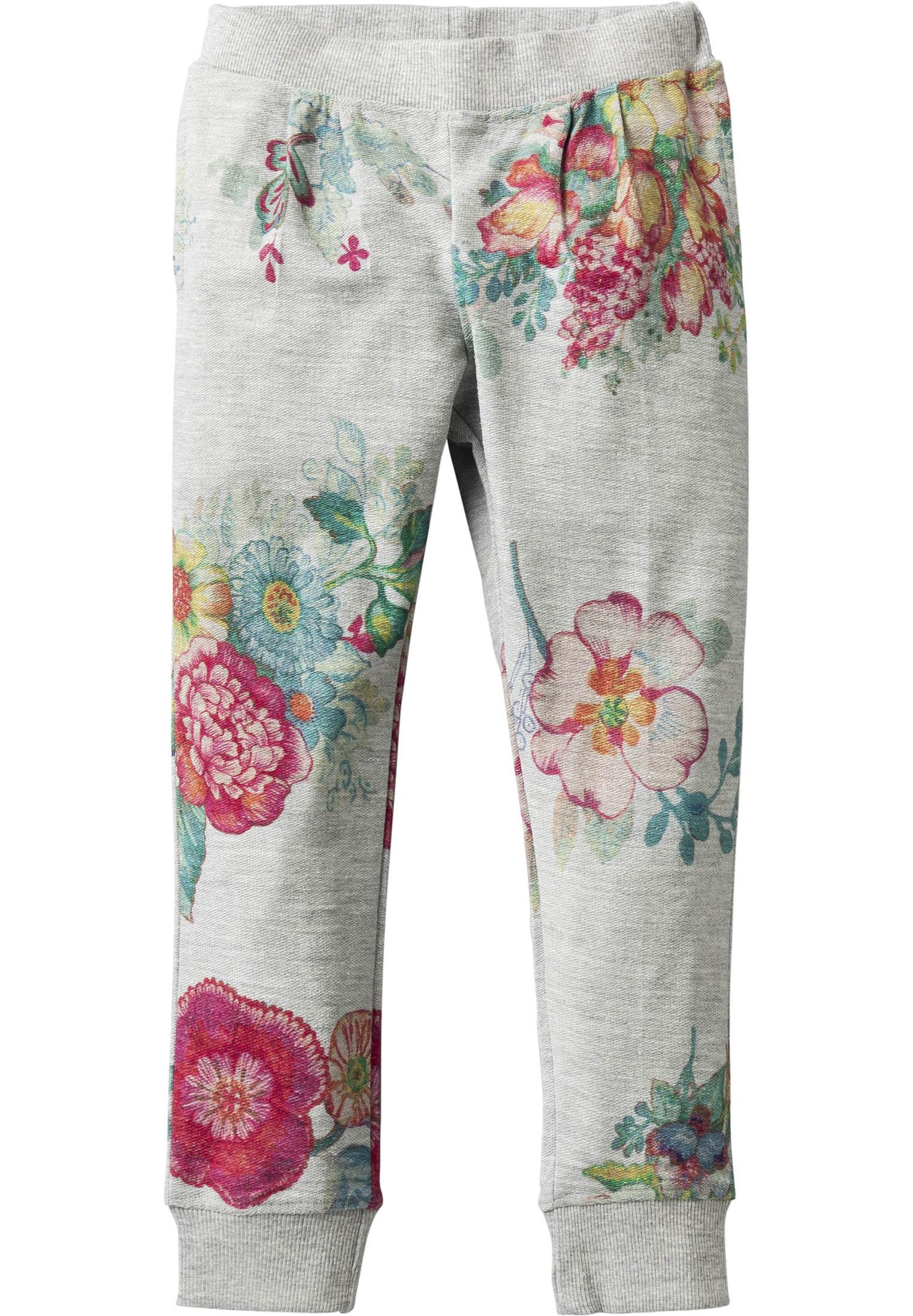 Afbeelding van Room Seven Sweatbroek hiba met bloemen grijs
