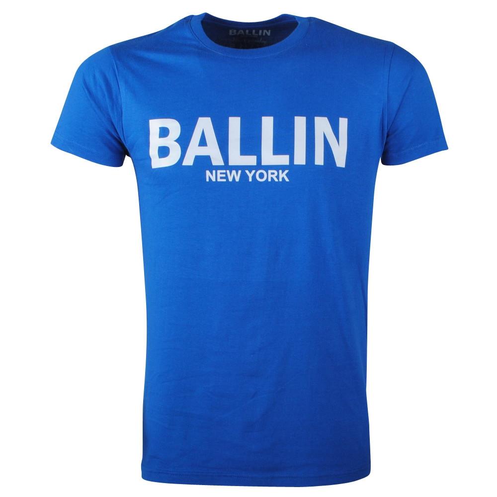 Afbeelding van Ballin New York Heren tshirt ronde hals blauw