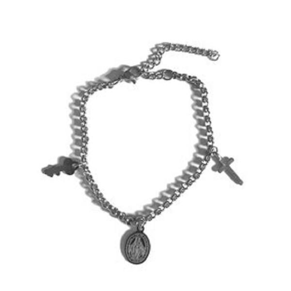 Afbeelding van 2 THE MOON 'N BACK Silver charm bracelet zilver