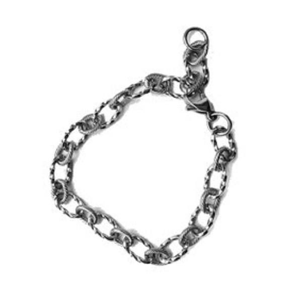 Afbeelding van 2 THE MOON 'N BACK Silver chain bracelet zilver