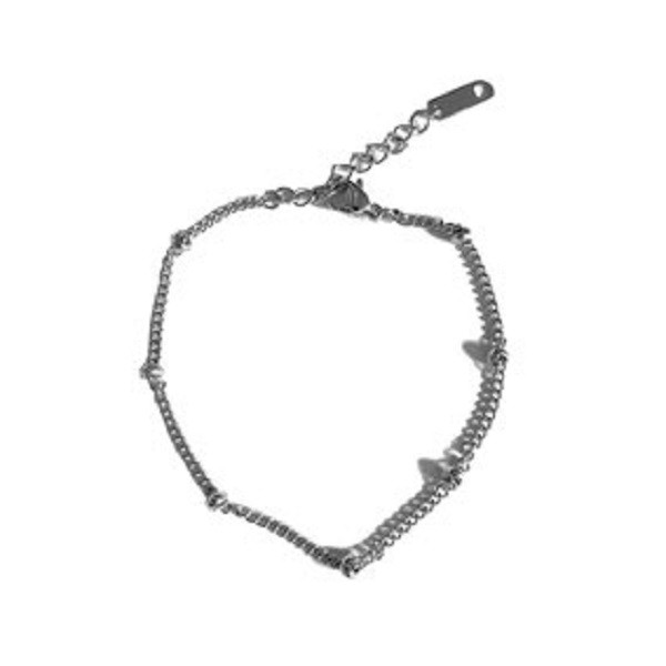 Afbeelding van 2 THE MOON 'N BACK Silver basic dots bracelet zilver