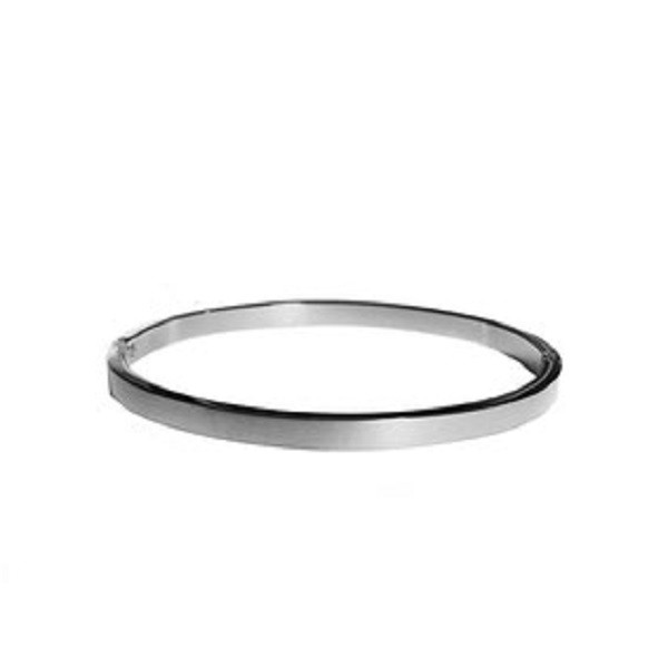Afbeelding van 2 THE MOON 'N BACK Sailver basic bangle zilver