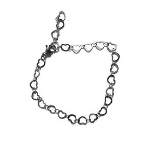 Afbeelding van 2 THE MOON 'N BACK Silver little hearts bracelet zilver