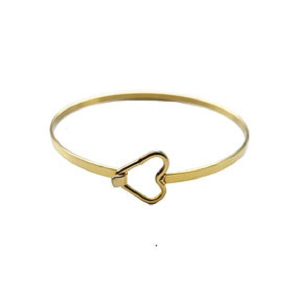 Afbeelding van 2 THE MOON 'N BACK Golden heart bangle goud