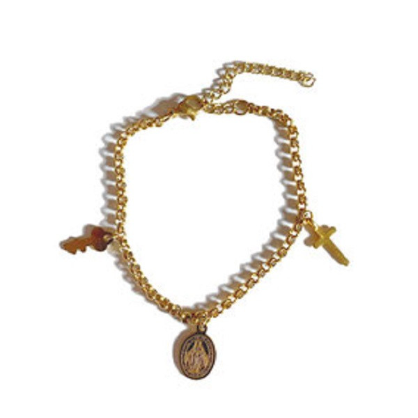 Afbeelding van 2 THE MOON 'N BACK Golden charm bracelet goud