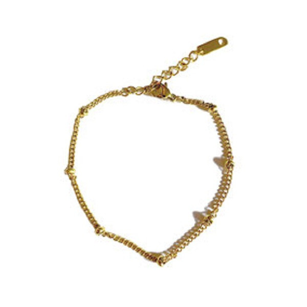 Afbeelding van 2 THE MOON 'N BACK Golden basic dots bracelet goud