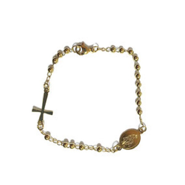 Afbeelding van 2 THE MOON 'N BACK Golden rasary bracelet goud