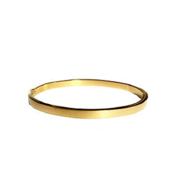 Afbeelding van 2 THE MOON 'N BACK Golden basic bangle goud