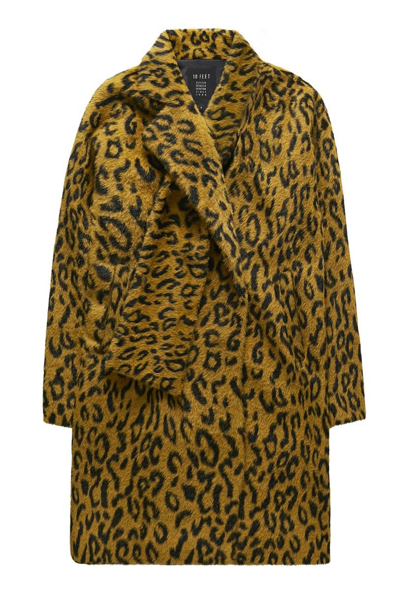 Afbeelding van 10 Feet Fur effect animal jacq scarf geel