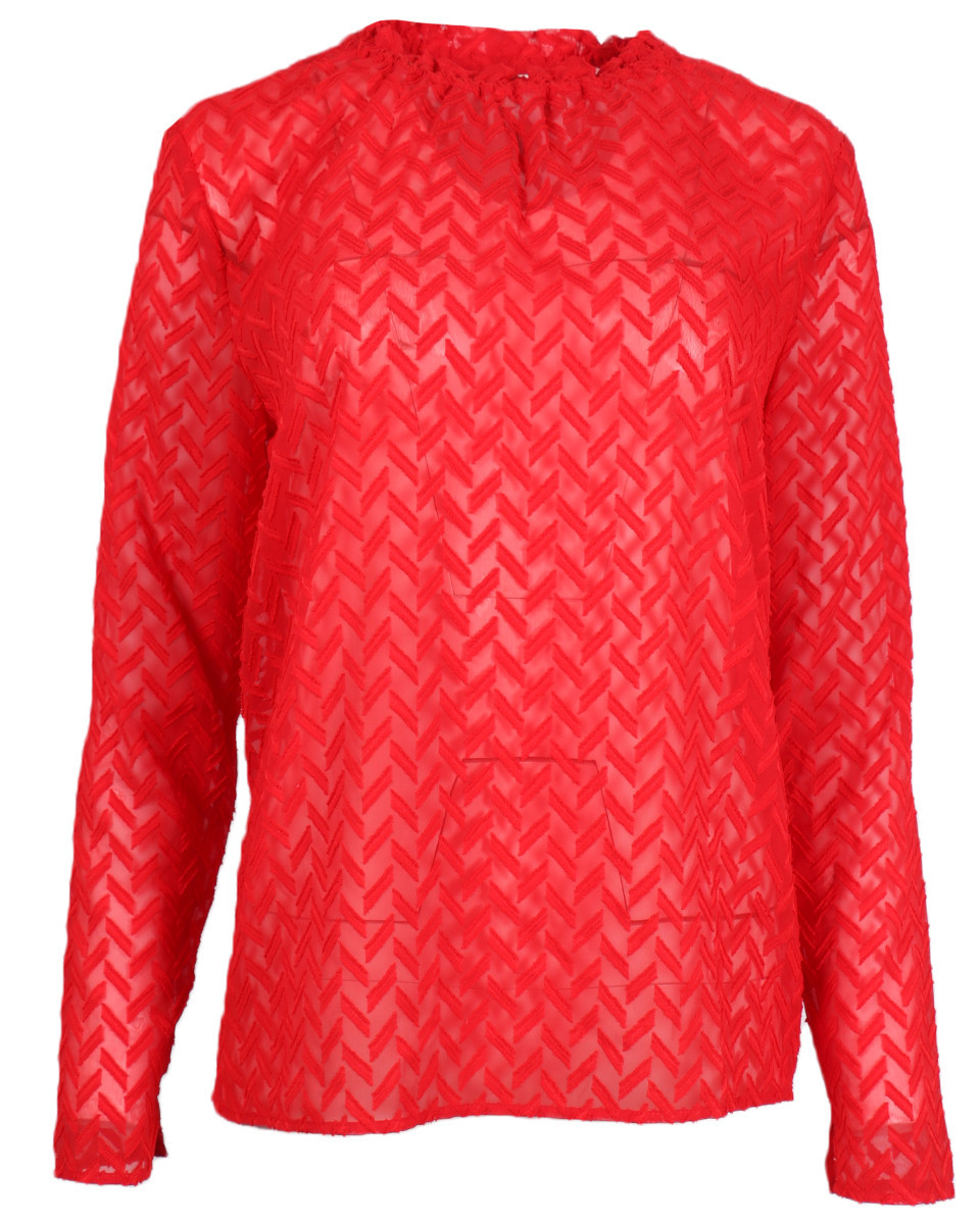 Afbeelding van Another Label Blouse d26-419005 pyramides rood
