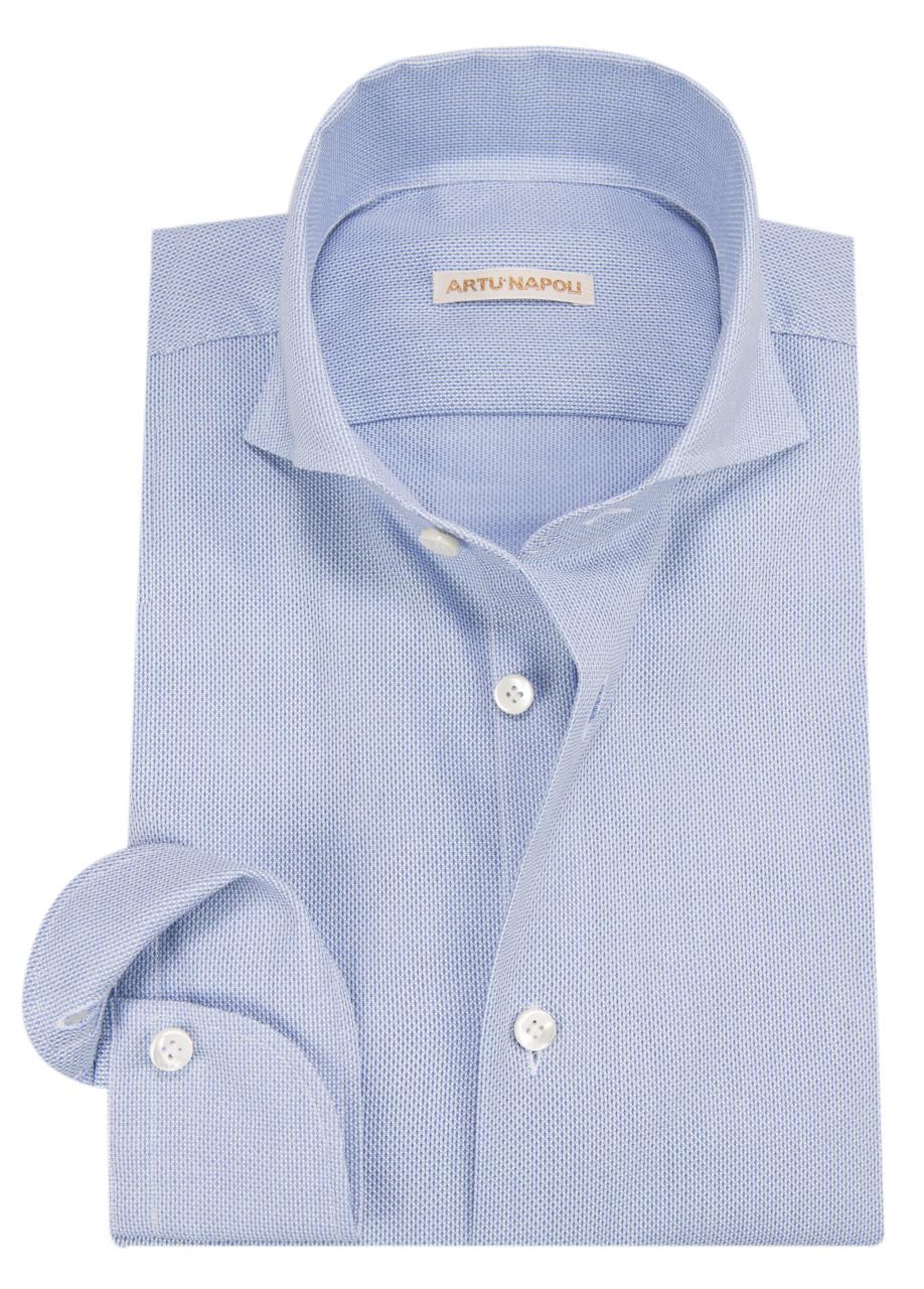 Afbeelding van Artu Napoli Overhemd met lange mouwen blauw