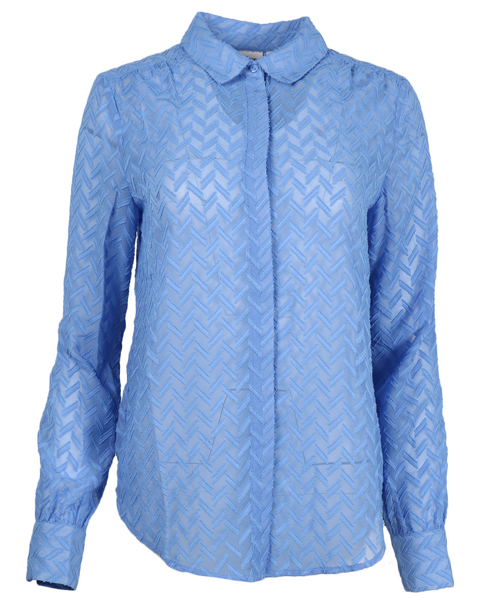 Afbeelding van Another Label Blouse d26-519109 maple shirt blauw