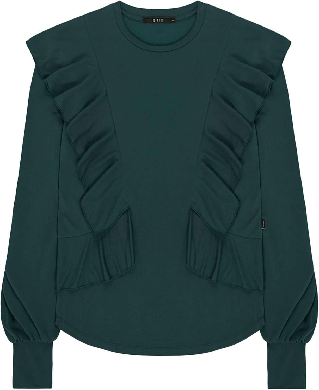 Afbeelding van 10 Feet Faux cupro jersey top groen