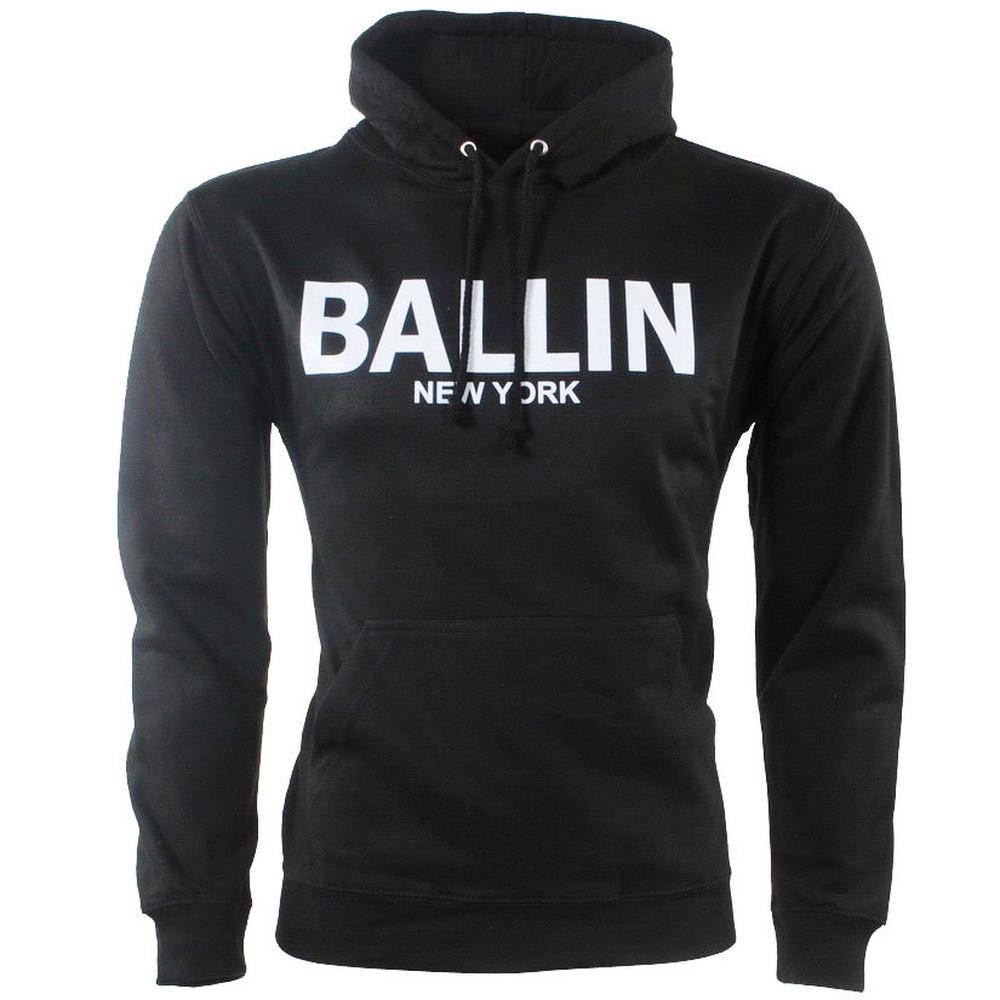 Afbeelding van Ballin New York Heren trui capuchon sweat zwart