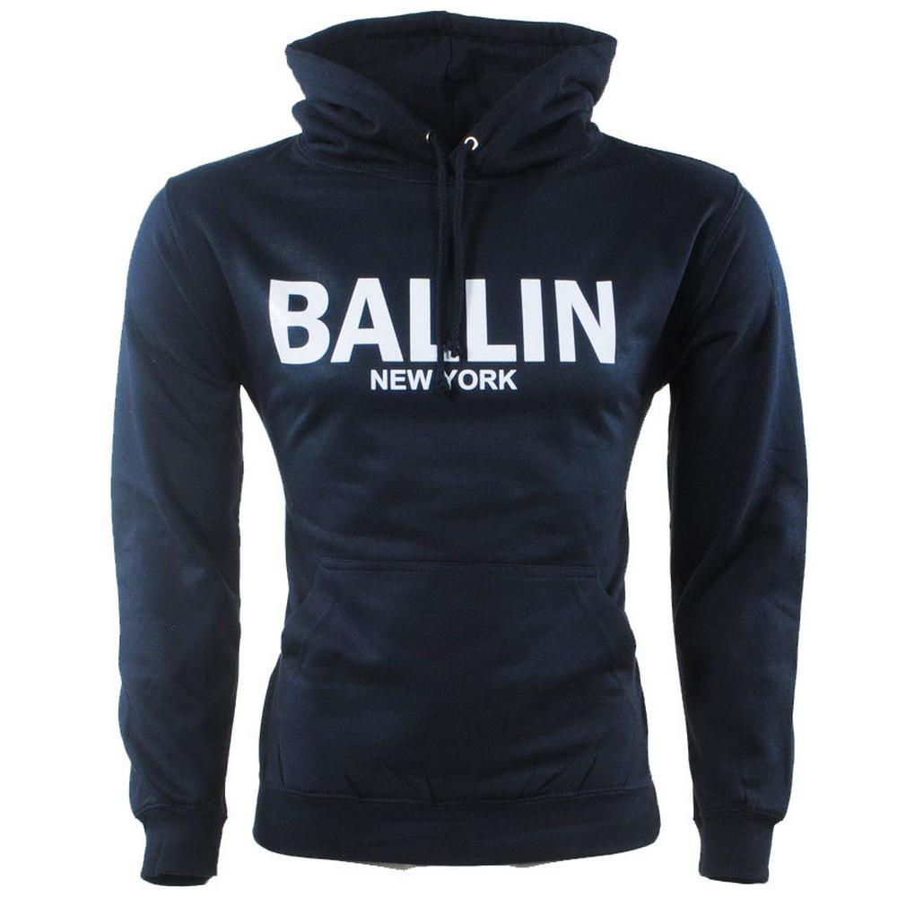 Afbeelding van Ballin New York Heren trui capuchon sweat blauw
