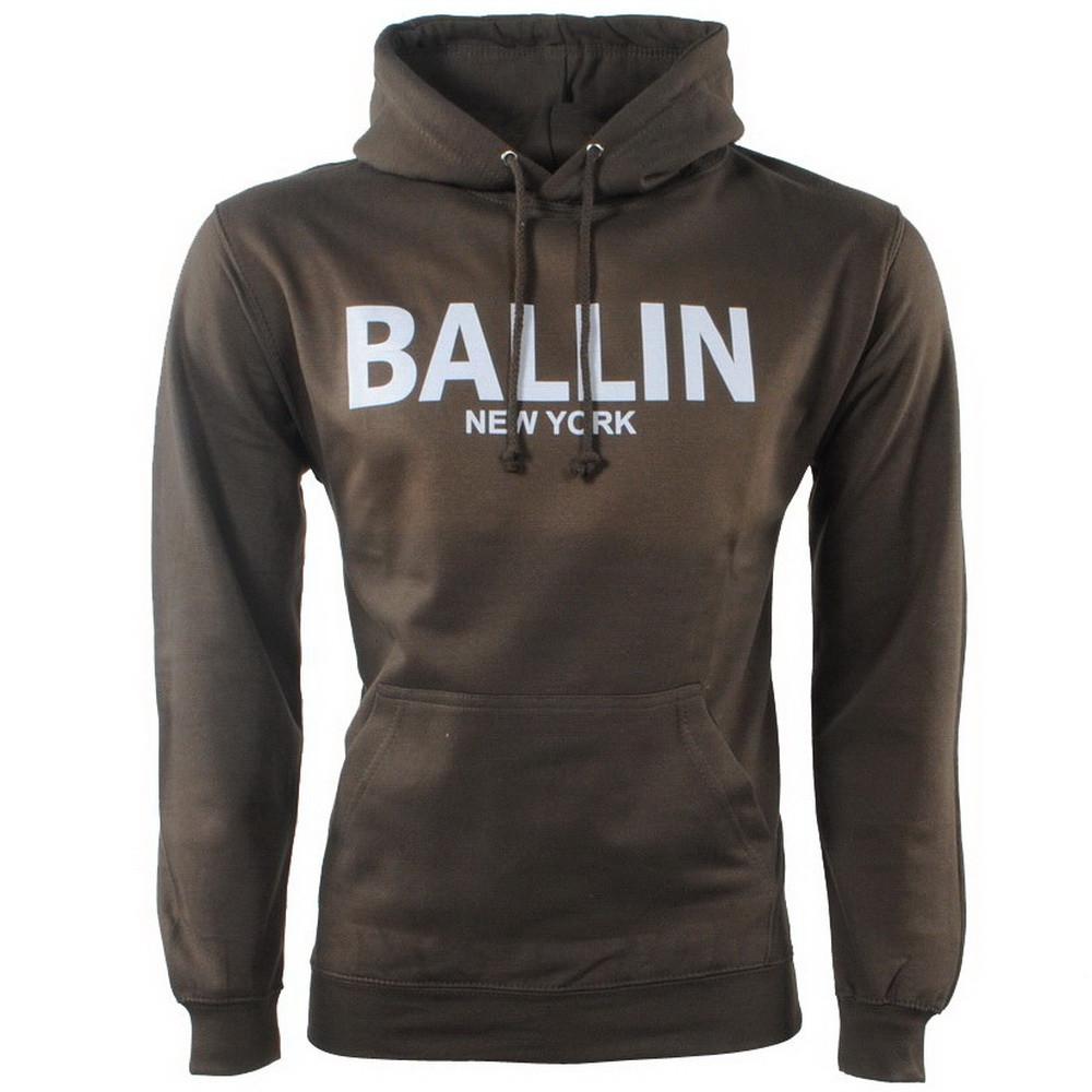 Afbeelding van Ballin New York Heren trui capuchon sweat kaki khaki