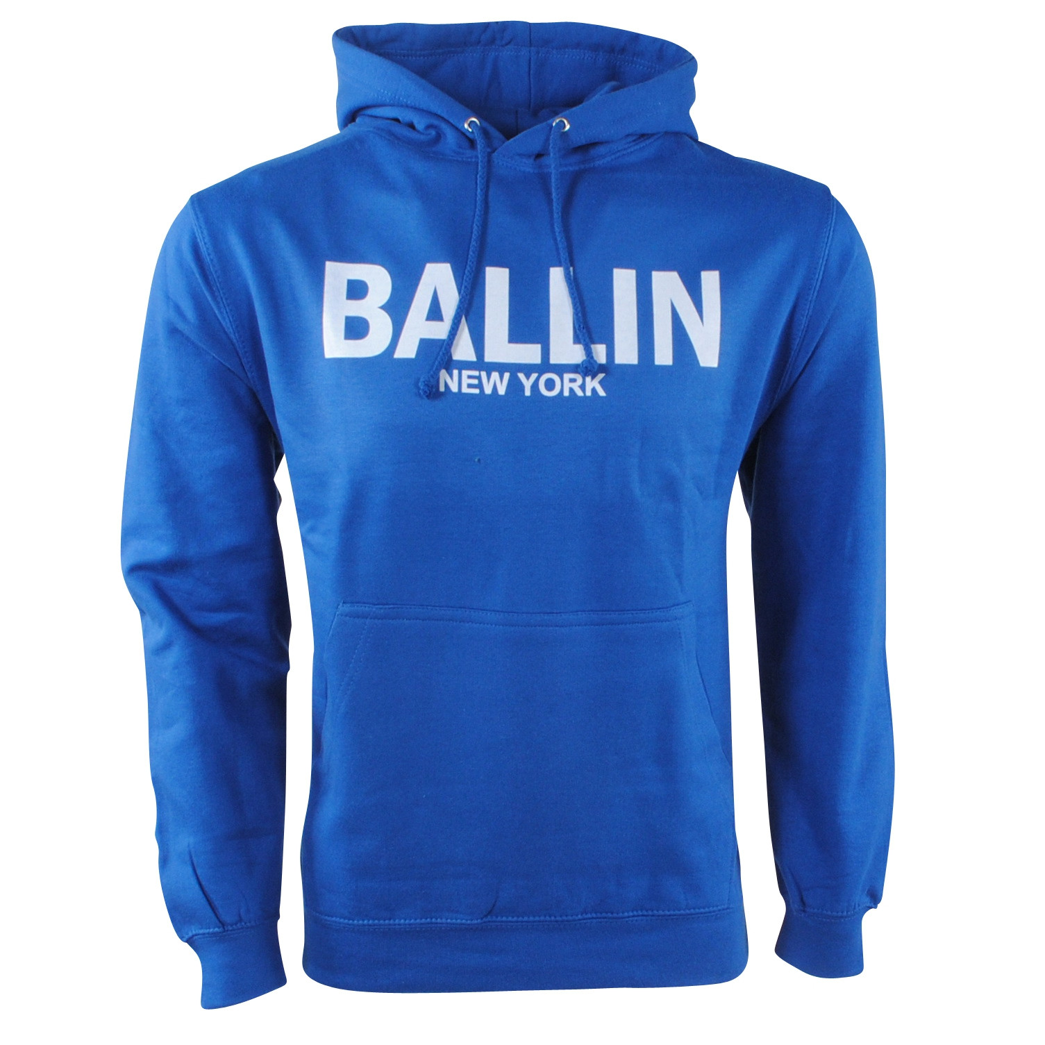 Afbeelding van Ballin New York Heren trui capuchon sweat cobalt blauw