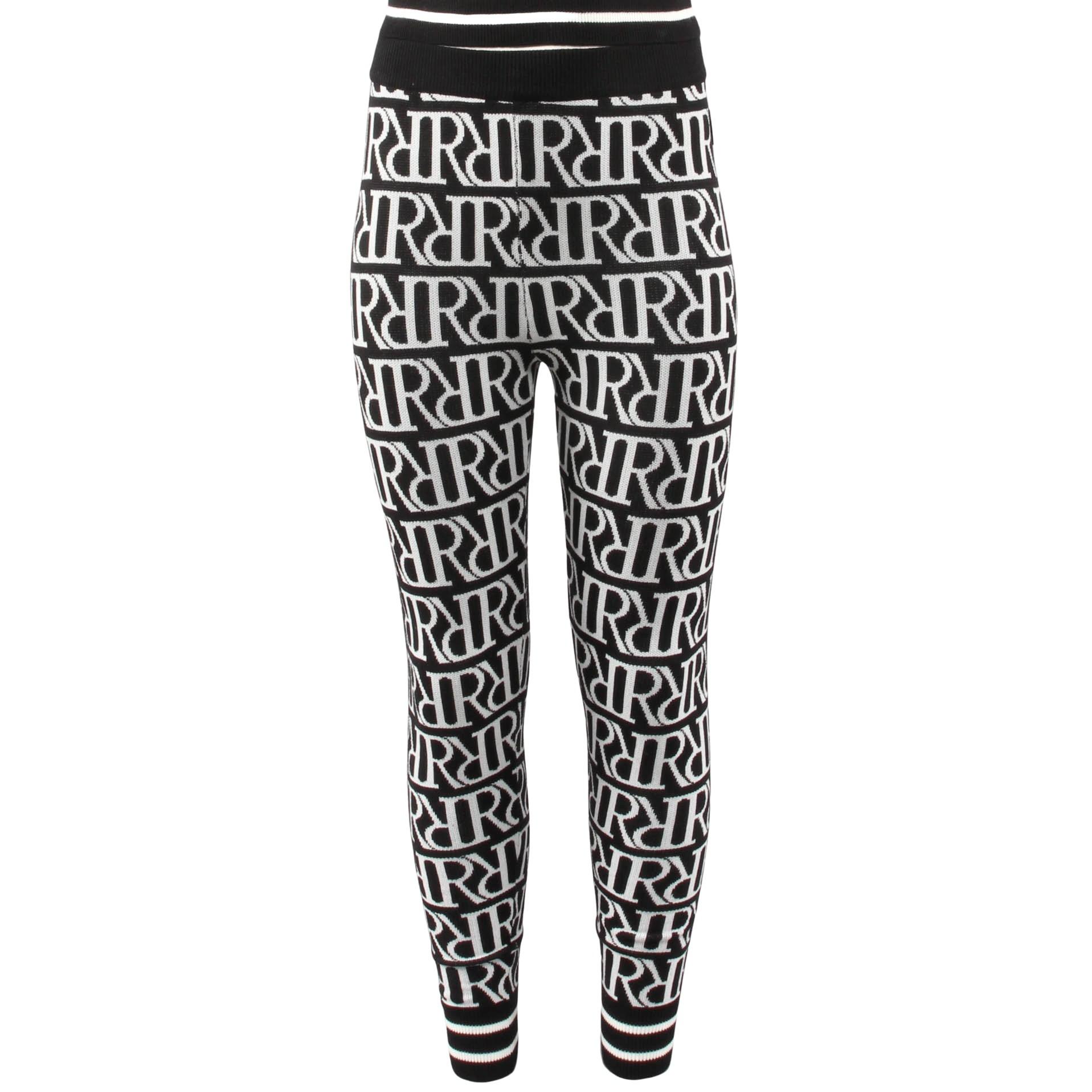 Afbeelding van Reinders Rr print pants zwart